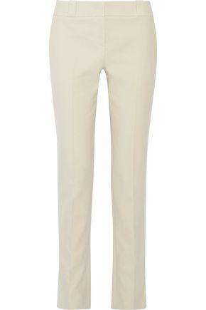 THE ROW Loke brushed-cotton straight-leg pants