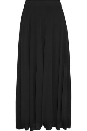 JIL SANDER Ribbed stretch-knit wide-leg culottes