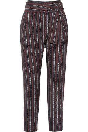 APIECE APART Wrap-effect jacquard tapered pants