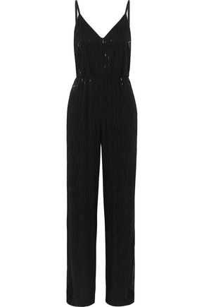 ALICE + OLIVIA Porsha beaded crepe jumpsuit