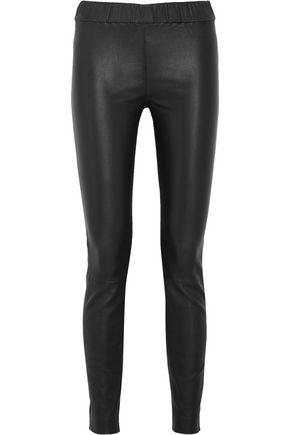 J.CREW Stretch-leather leggings
