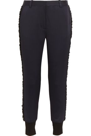 3.1 PHILLIP LIM Embellished satin-twill track pants