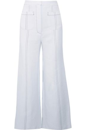 EMILIA WICKSTEAD Sally cropped crepe flared pants