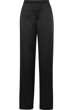 LANVIN Striped satin wide-leg pants