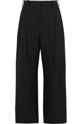 LANVIN Cropped twill wide-leg pants
