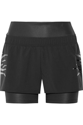 ADIDAS by STELLA McCARTNEY Layered Climalite shell and stretch shorts