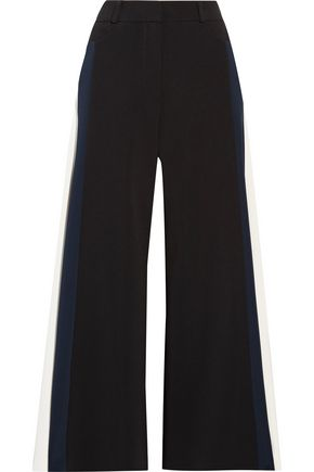 PETER PILOTTO Cropped striped cady wide-leg pants