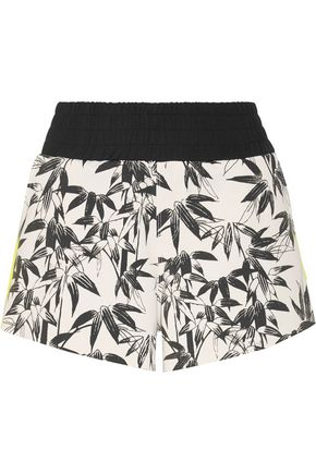 THE UPSIDE Bamboo Cruise printed stretch-jersey shorts