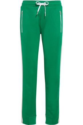 RAG & BONE Mika satin-trimmed jersey track pants