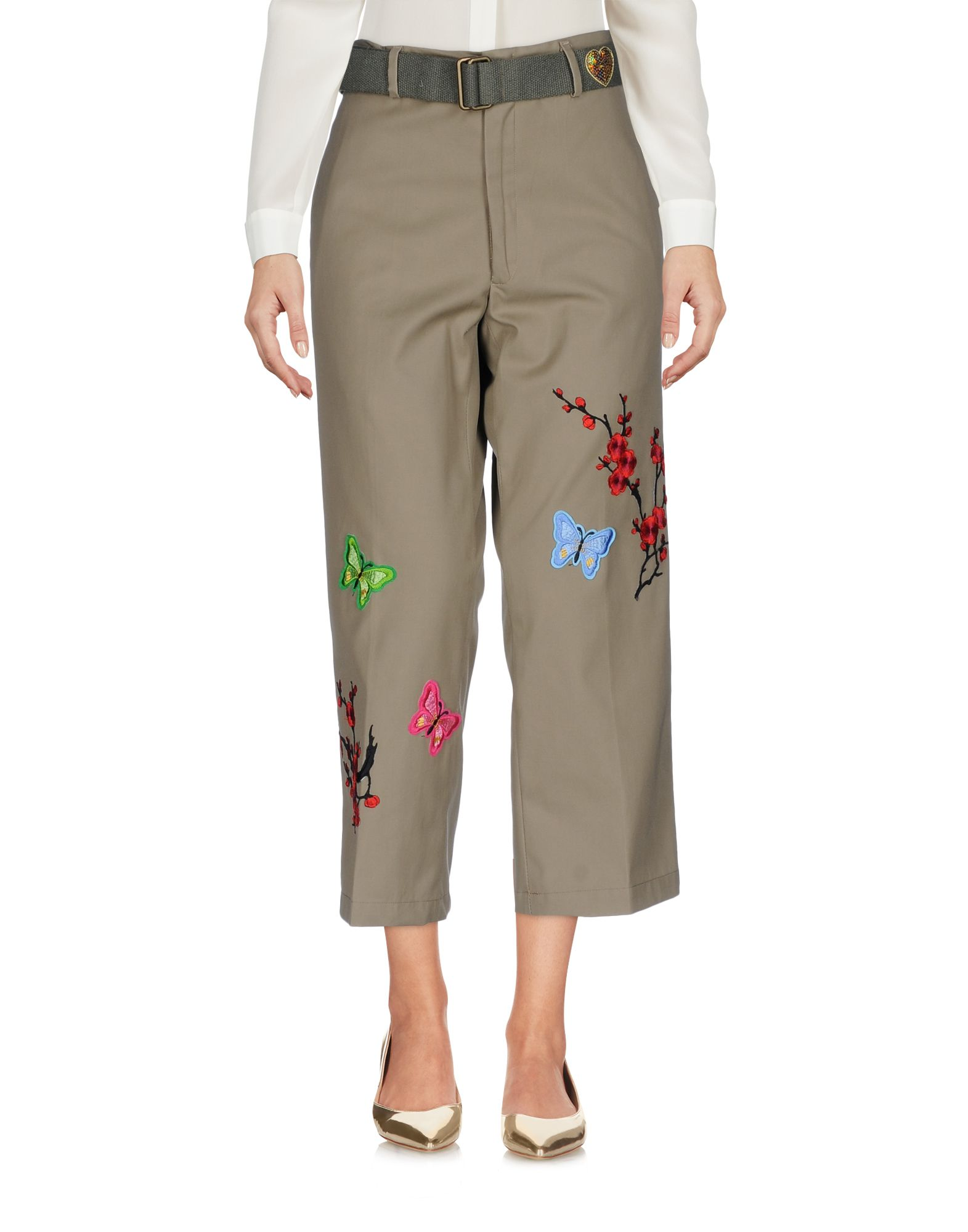 MPD BOX Cropped Pants & Culottes in Military Green