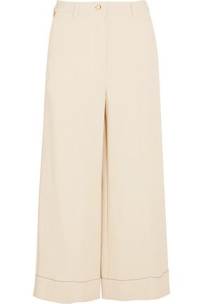 SONIA RYKIEL Cropped stretch-cady wide-leg pants