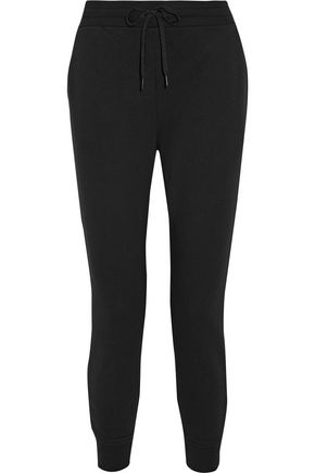 T by ALEXANDER WANG Stretch cotton-terry track pants