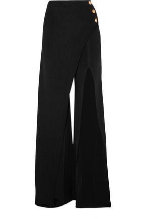 BALMAIN Embellished stretch-knit flared pants
