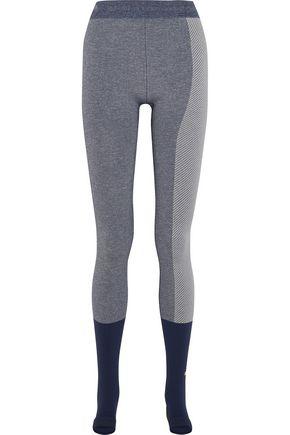 ADIDAS by STELLA McCARTNEY Paneled Climalite stretch-jersey leggings