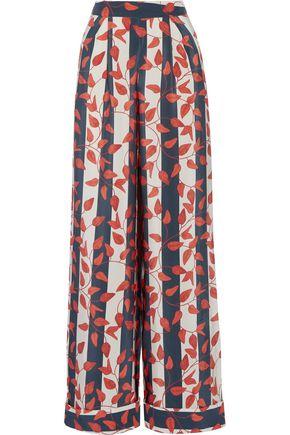 JOHANNA ORTIZ Curaçao printed silk crepe de chine wide-leg pants