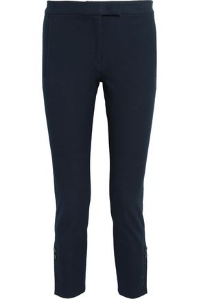 JOSEPH Finley cropped stretch-gabardine slim-leg pants