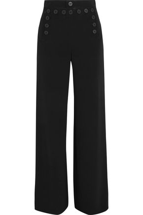 JOSEPH Portland lace-up crepe wide-leg pants
