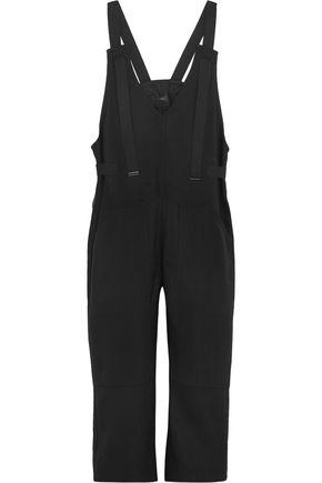 JOSEPH Grosgrain-trimmed crepe jumpsuit