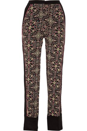 TALITHA Raj printed silk straight-leg pants
