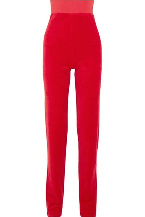 VETEMENTS + Juicy Couture embellished cotton-blend velour track pants