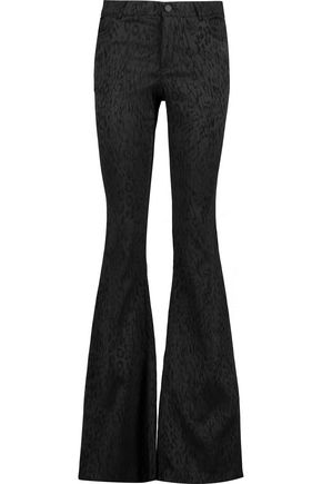 ALICE+OLIVIA Drew jacquard flared pants