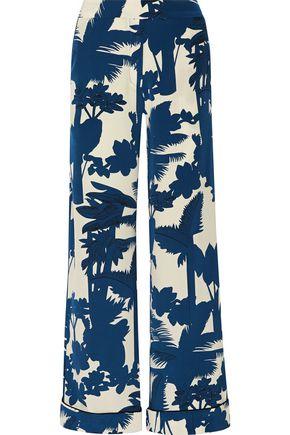 JOHANNA ORTIZ Orinoco printed silk crepe de chine wide-leg pants