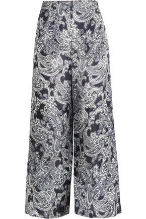 ACNE STUDIOS Tennessee printed satin-twill wide-leg pants
