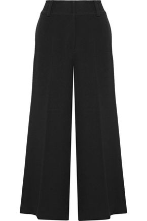 ELIZABETH AND JAMES Kensington cropped stretch-crepe wide-leg pants