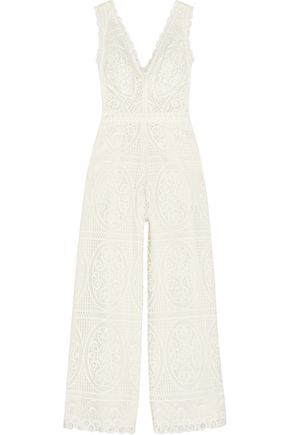 TEMPERLEY LONDON Titania guipure lace jumpsuit