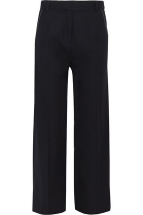 TOPSHOP UNIQUE Hutton wool-twill wide-leg pants