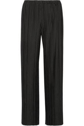 THE ROW Pala plissé stretch-jersey wide-leg pants