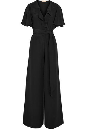MICHAEL KORS COLLECTION Ruffled silk-crepe jumpsuit