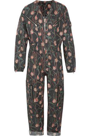 ISABEL MARANT Laney floral-print cotton and linen-blend jumpsuit