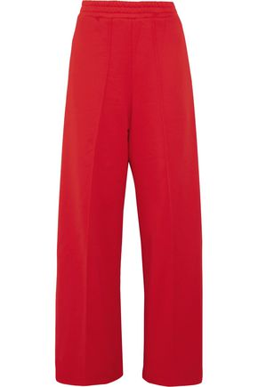 GOLDEN GOOSE DELUXE BRAND Sophie satin-trimmed cotton-blend jersey track pants