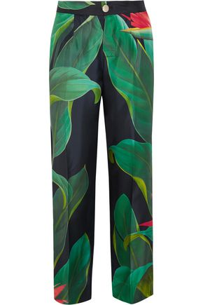 F.R.S. FOR RESTLESS SLEEPERS Crono printed silk-twill pants