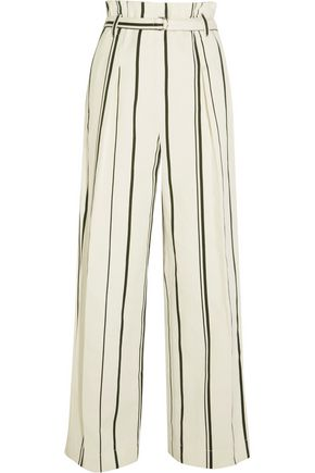 3.1 PHILLIP LIM Striped cotton and linen-blend wide-leg pants