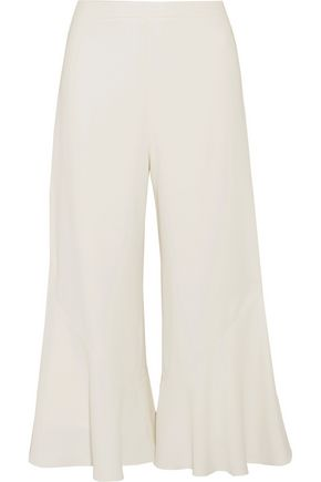 PETER PILOTTO Cropped ruffled cady wide-leg pants