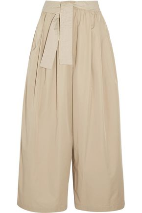 TOME Cropped cotton-twill wide-leg pants