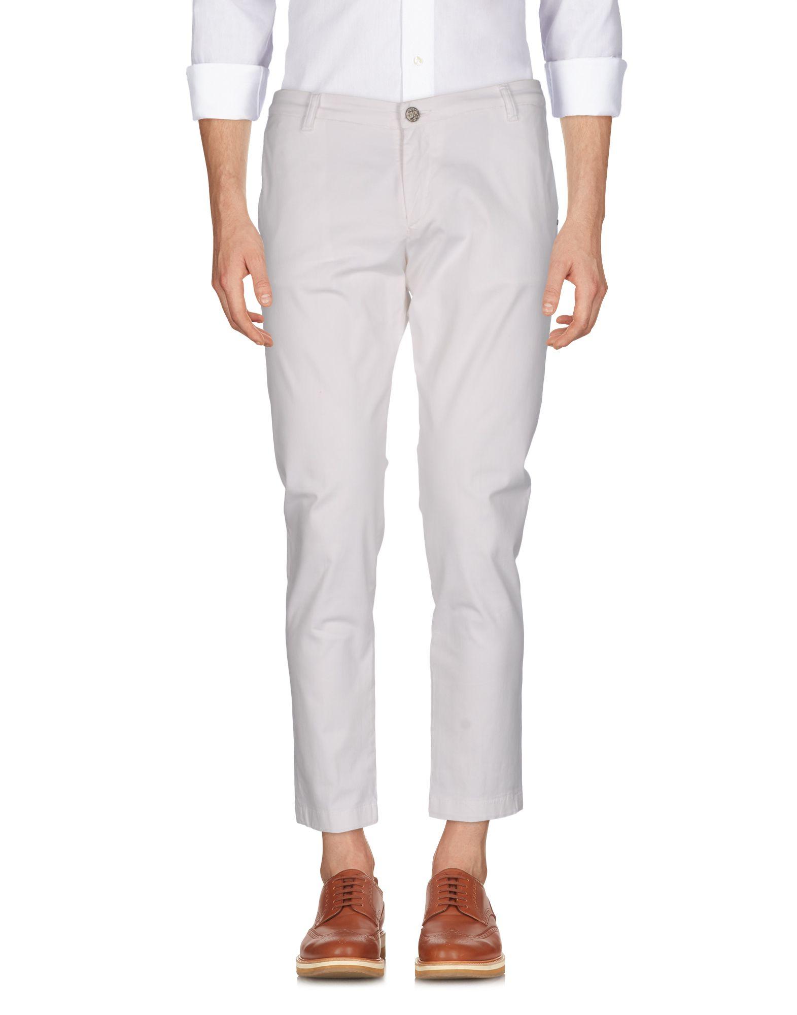 《セール開催中》DABOLEIS メンズ パンツ ホワイト 35 コットン 97% / ポリウレタン 3%