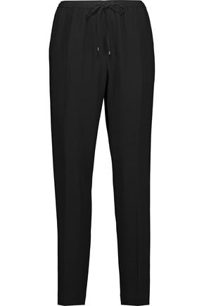 ALEXANDER WANG Stretch-crepe tapered track pants