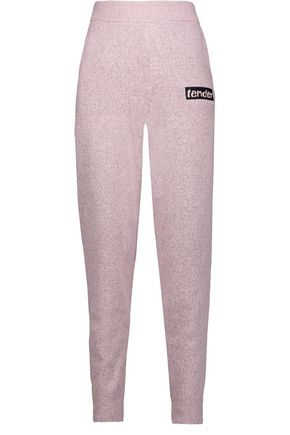 ALEXANDER WANG Marled stretch-knit track pants