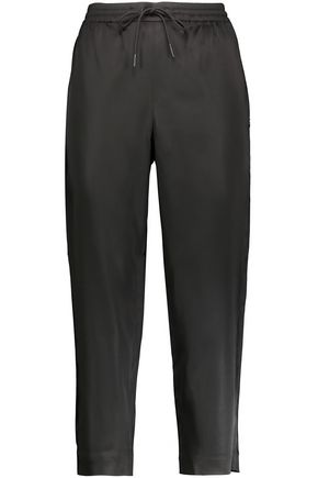 T by ALEXANDER WANG Stretch-satin track pants