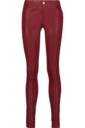 ALICE + OLIVIA Angie leather skinny pants