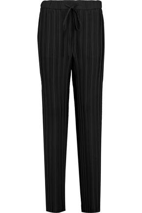 THEORY Tralpin plissé-crepe wide-leg pants