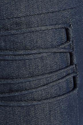 CUSHNIE ET OCHS Lattice-trimmed denim straight-leg pants