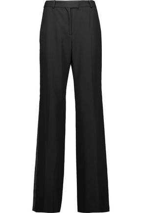 VANESSA SEWARD Crispin satin-trimmed wool wide-leg pants