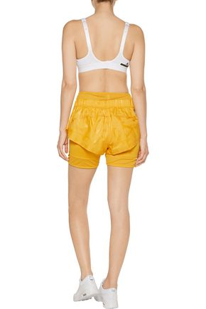 ADIDAS by STELLA McCARTNEY Mesh-trimmed shell and stretch shorts