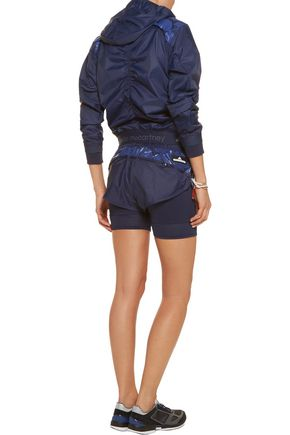 ADIDAS by STELLA McCARTNEY Run printed shell and stretch shorts