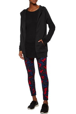 Y-3 + adidas Originals layered stretch cotton-blend leggings