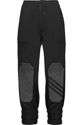 Y-3 + adidas Original paneled cotton-jersey track pants